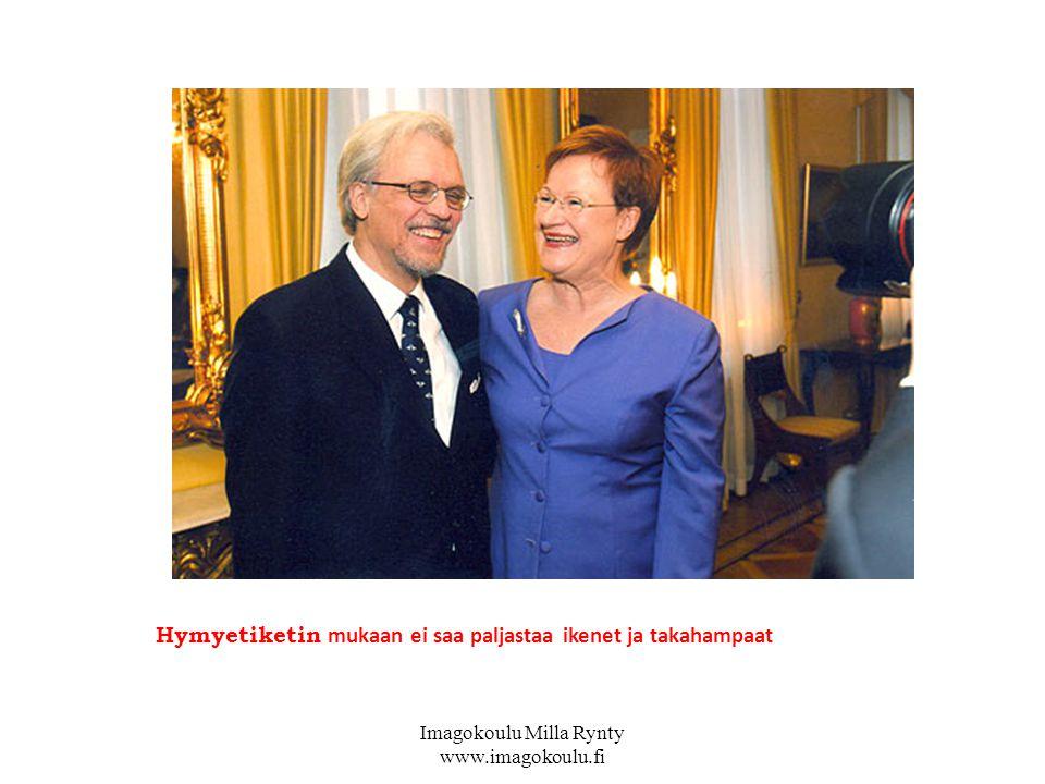 Hymyetiketin mukaan ei saa paljastaa ikenet ja takahampaat Imagokoulu Milla Rynty www.imagokoulu.fi