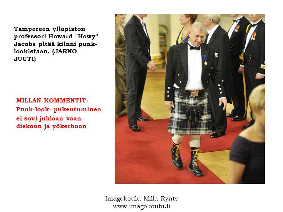 Tampereen yliopiston professori Howard Howy Jacobs pitää kiinni punk- lookistaan.