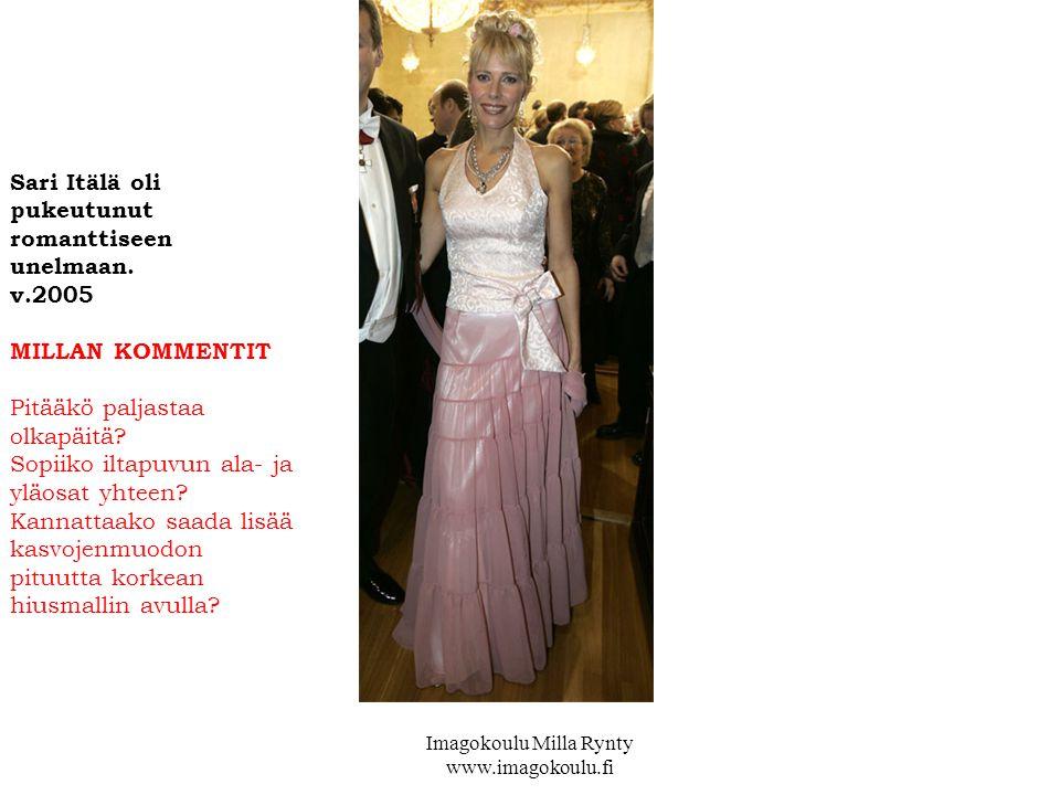 Sari Itälä oli pukeutunut romanttiseen unelmaan.