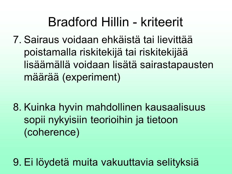 Bradford Hillin - kriteerit 7.