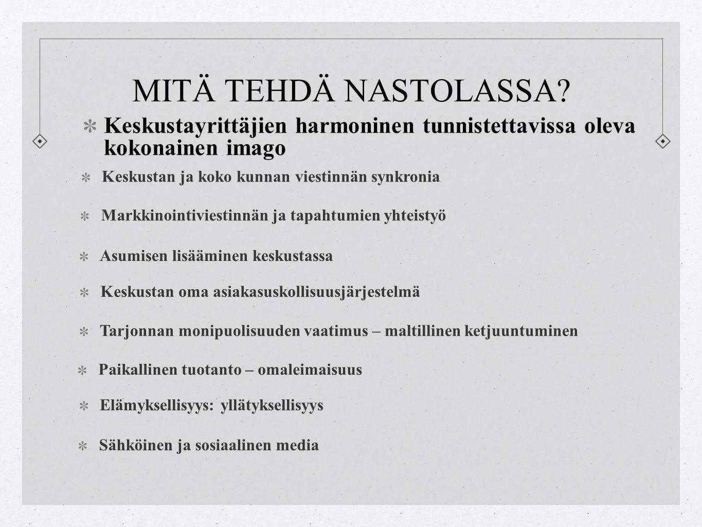MITÄ TEHDÄ NASTOLASSA.