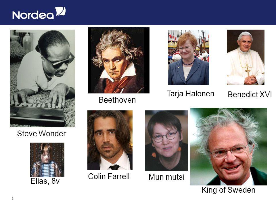 3 Steve Wonder King of Sweden Tarja Halonen Beethoven Benedict XVI Mun mutsi Colin Farrell Elias, 8v