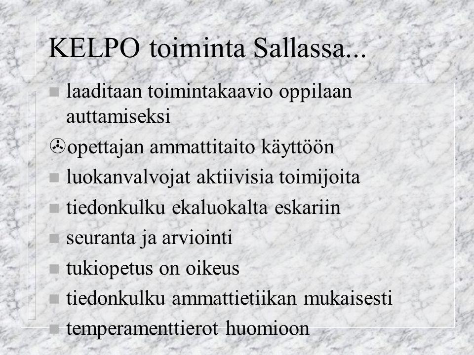 KELPO toiminta Sallassa...