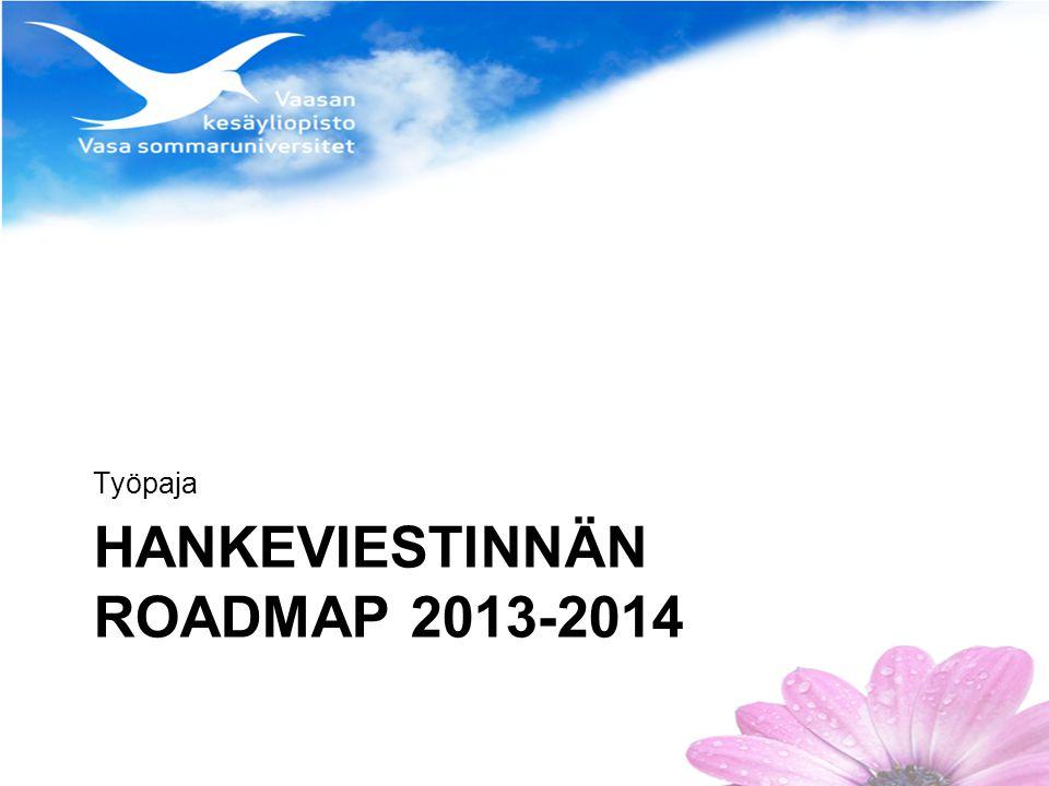 HANKEVIESTINNÄN ROADMAP 2013-2014 Työpaja