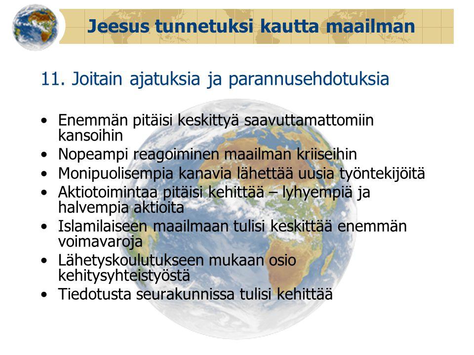 Jeesus tunnetuksi kautta maailman 11.