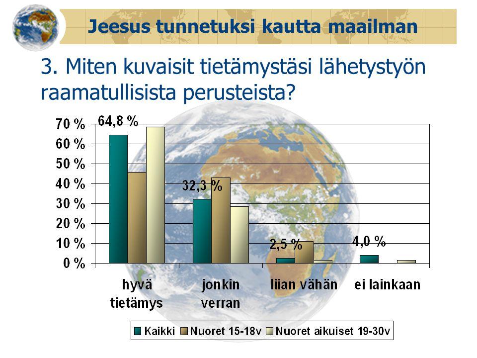 Jeesus tunnetuksi kautta maailman 3.