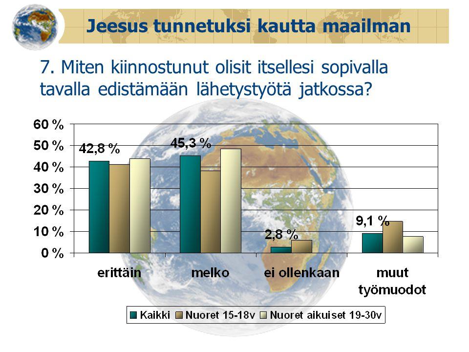 Jeesus tunnetuksi kautta maailman 7.