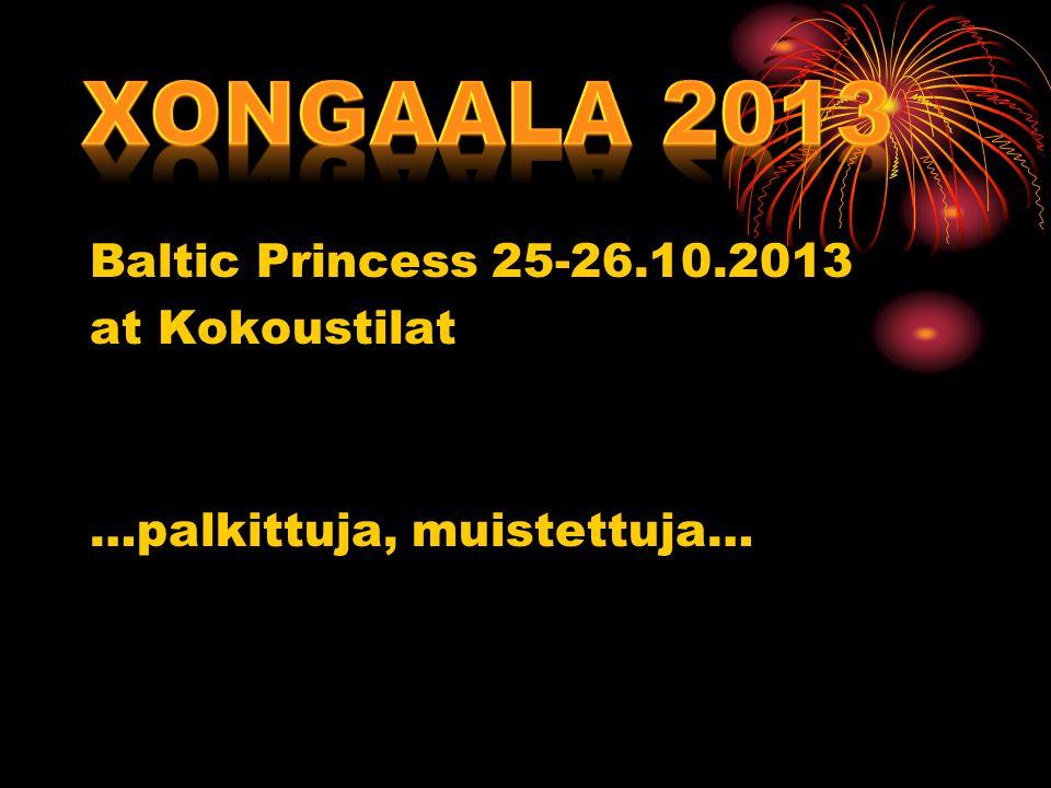 Baltic Princess 25-26.10.2013 at Kokoustilat …palkittuja, muistettuja…