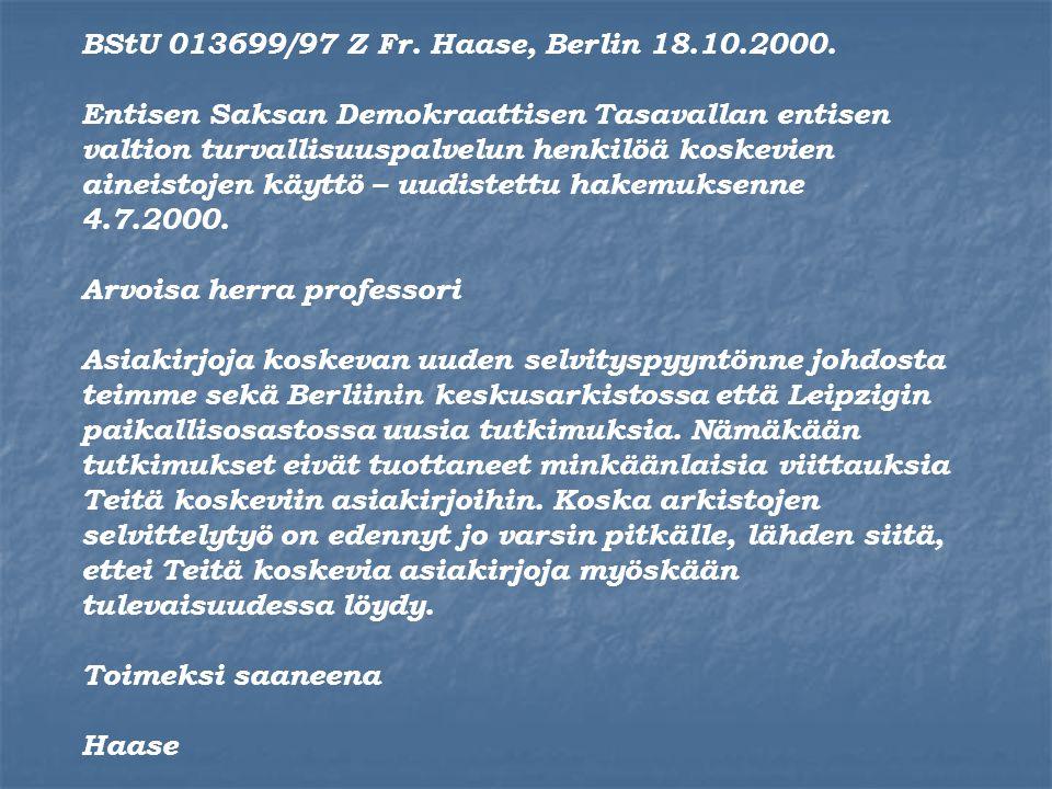 BStU 013699/97 Z Fr. Haase, Berlin 18.10.2000.