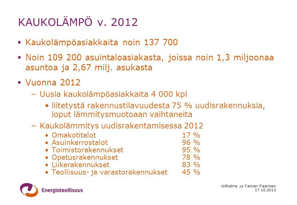 17.10.2013 Wilhelms ja Tanner-Faarinen KAUKOLÄMPÖ v.