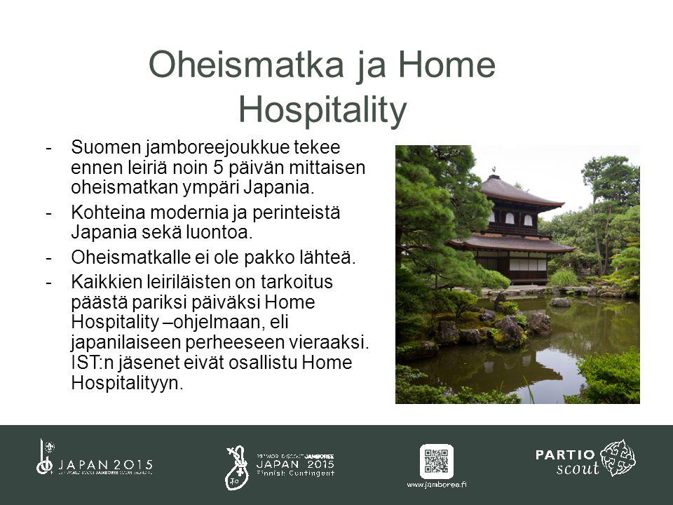 -Suomen jamboreejoukkue tekee ennen leiriä noin 5 päivän mittaisen oheismatkan ympäri Japania.
