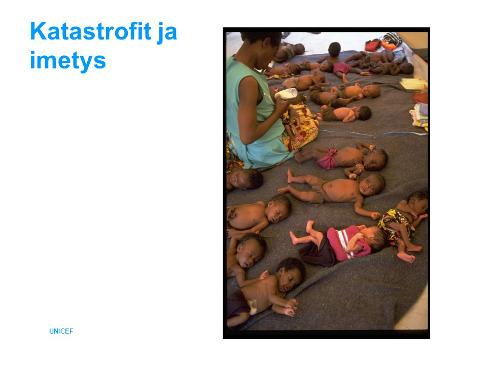 Katastrofit ja imetys UNICEF