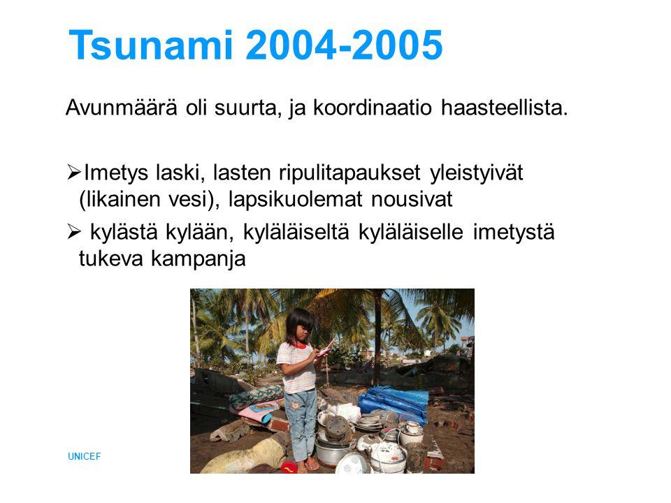 Tsunami 2004-2005 Avunmäärä oli suurta, ja koordinaatio haasteellista.