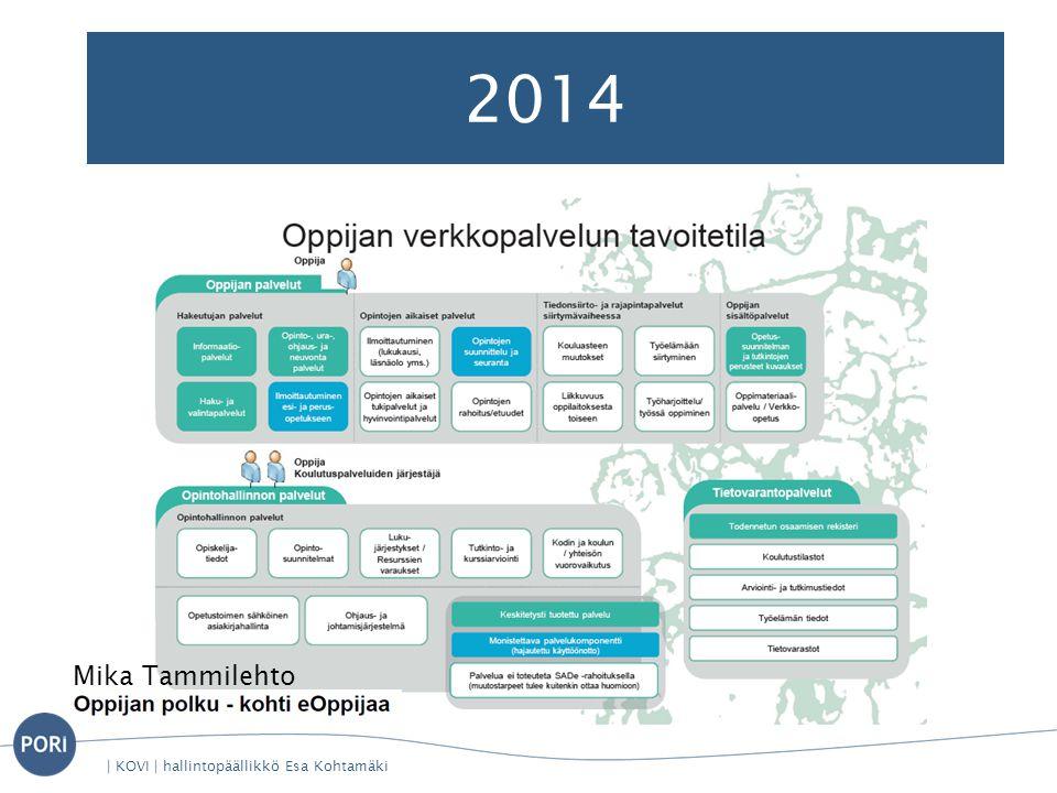 2014 | KOVI | hallintopäällikkö Esa Kohtamäki Mika Tammilehto