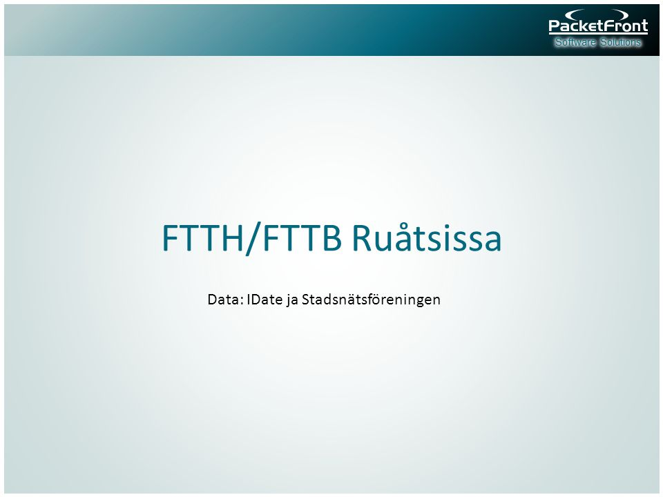 FTTH/FTTB Ruåtsissa Data: IDate ja Stadsnätsföreningen