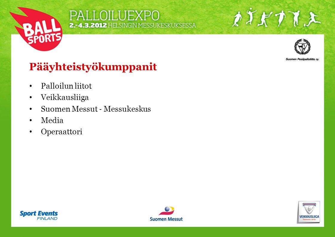 Pääyhteistyökumppanit • Palloilun liitot • Veikkausliiga • Suomen Messut ‐ Messukeskus • Media • Operaattori
