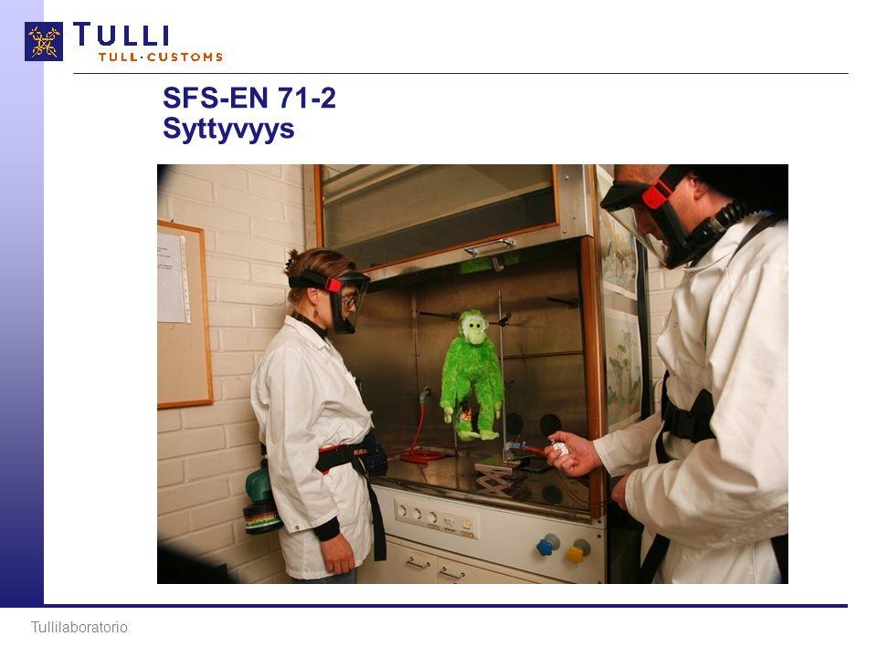 SFS-EN 71-2 Syttyvyys Tullilaboratorio