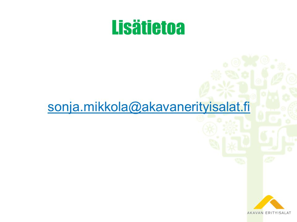 Lisätietoa sonja.mikkola@akavanerityisalat.fi