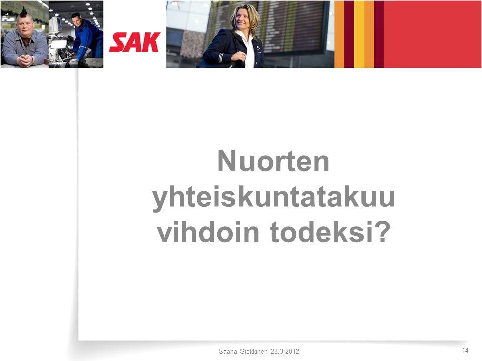 Nuorten yhteiskuntatakuu vihdoin todeksi Saana Siekkinen 28.3.2012 14