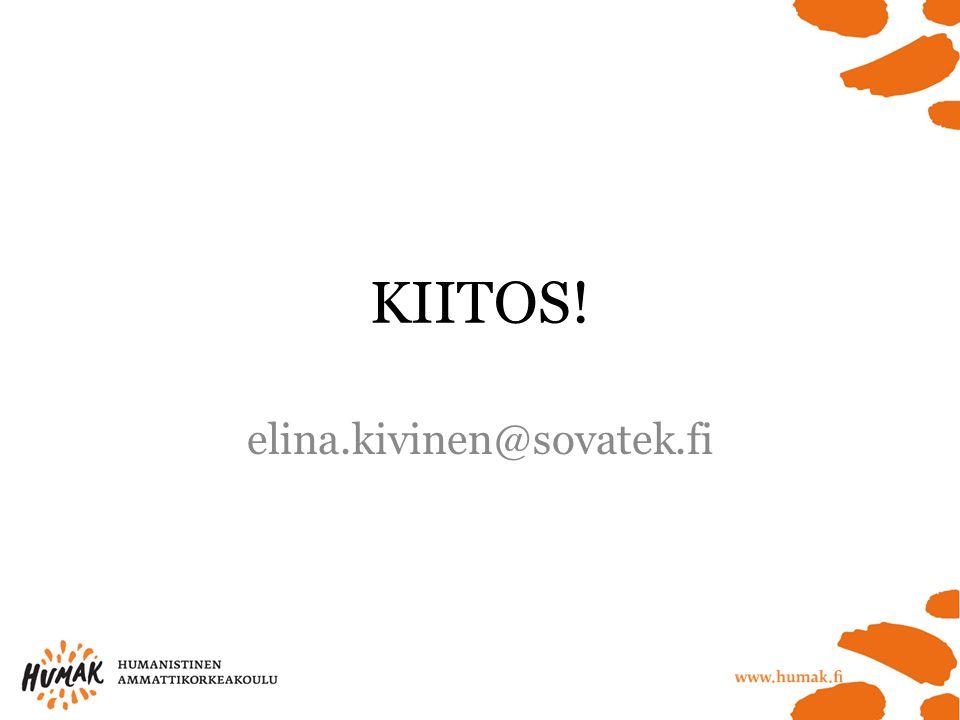 KIITOS! elina.kivinen@sovatek.fi