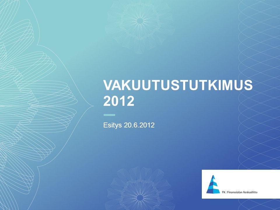 11 VAKUUTUSTUTKIMUS 2012 Esitys 20.6.2012
