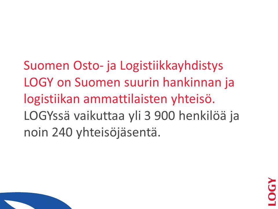 Suomen Osto- ja Logistiikkayhdistys LOGY on Suomen suurin hankinnan ja logistiikan ammattilaisten yhteisö.