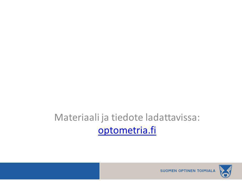 Materiaali ja tiedote ladattavissa: optometria.fi optometria.fi