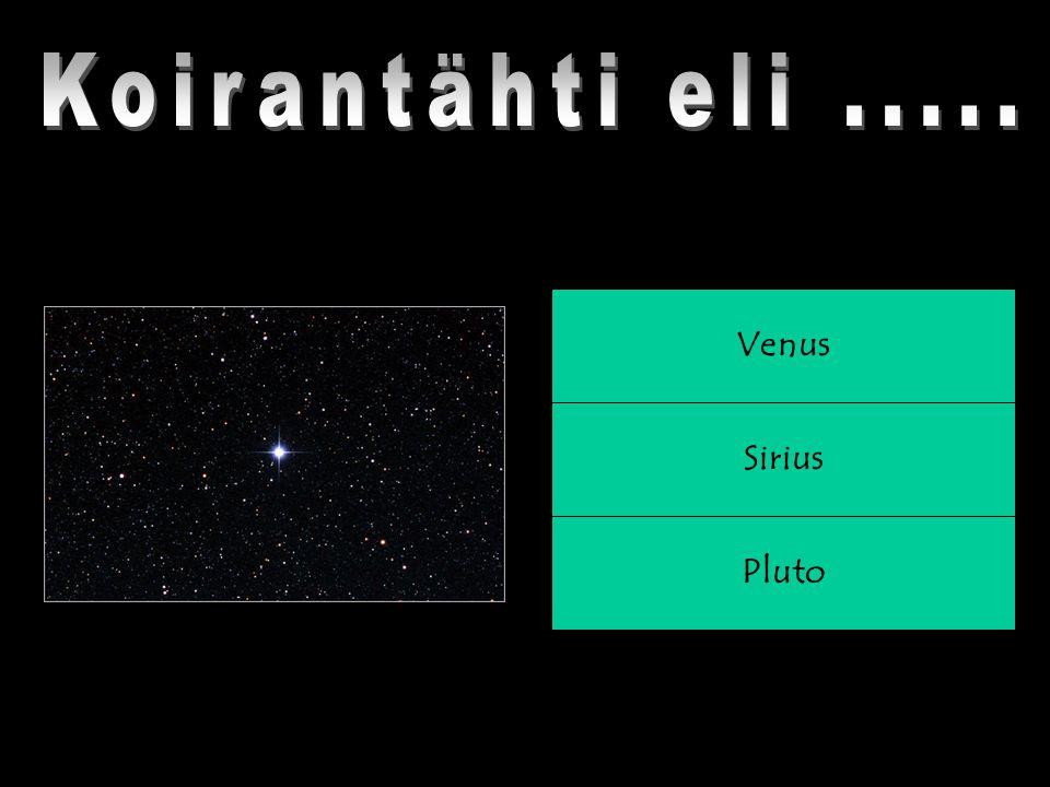 Pluto Sirius Venus