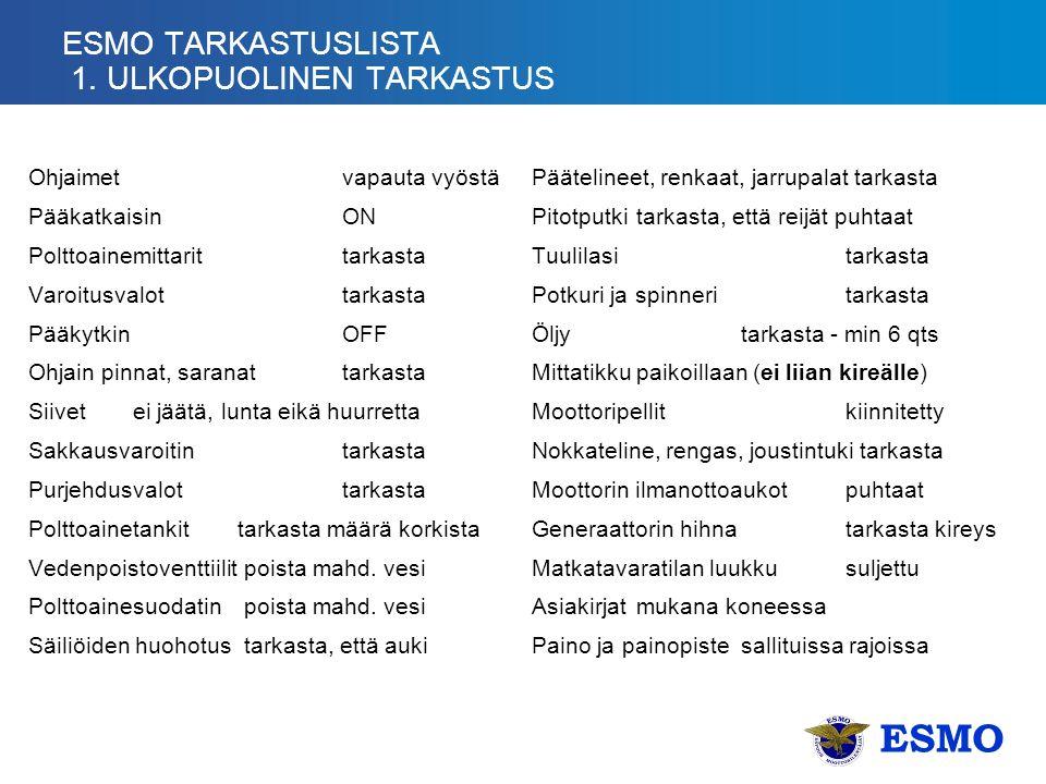 ESMO TARKASTUSLISTA 1.