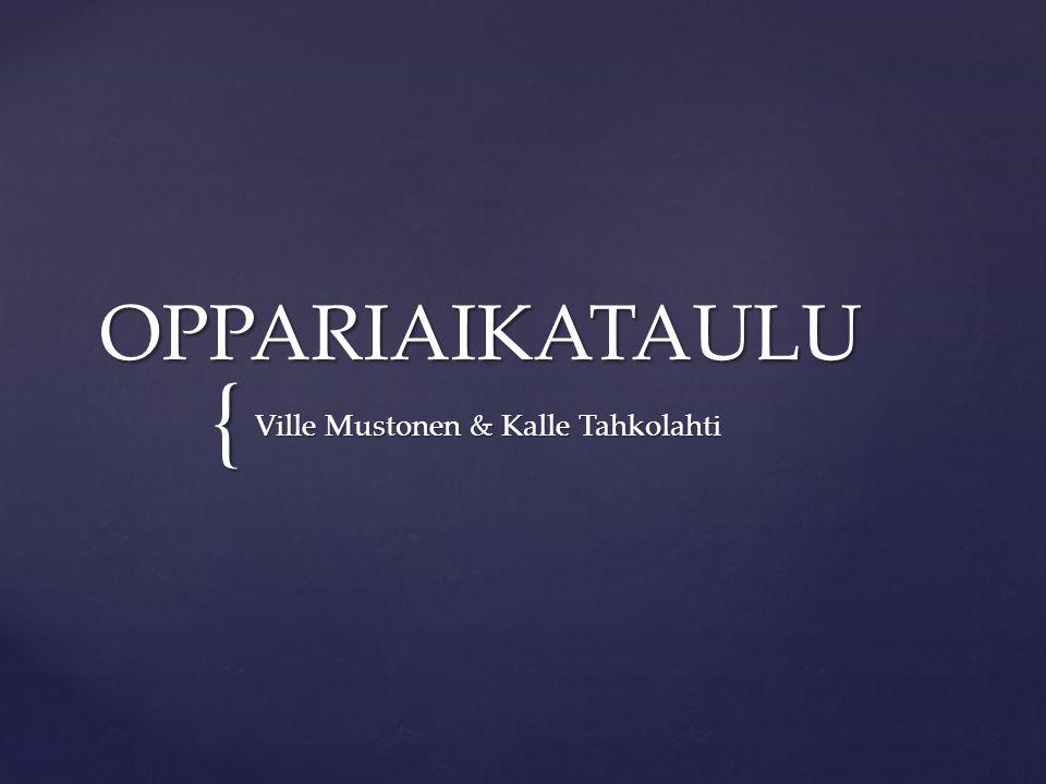 { OPPARIAIKATAULU Ville Mustonen & Kalle Tahkolahti