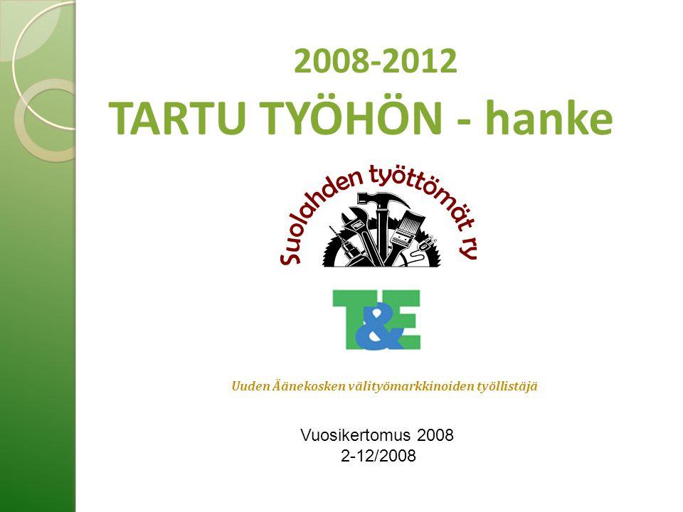 Uuden Äänekosken välityömarkkinoiden työllistäjä 2008-2012 TARTU TYÖHÖN - hanke Vuosikertomus 2008 2-12/2008