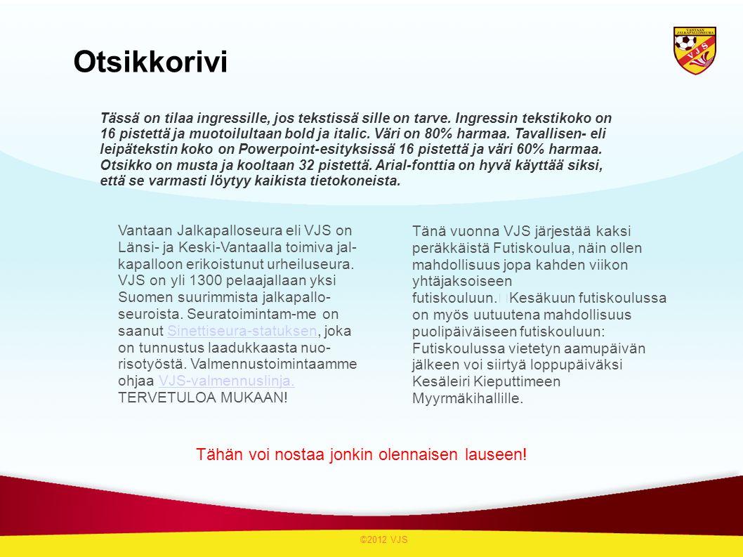 Otsikkorivi Vantaan Jalkapalloseura eli VJS on Länsi- ja Keski-Vantaalla toimiva jal- kapalloon erikoistunut urheiluseura.