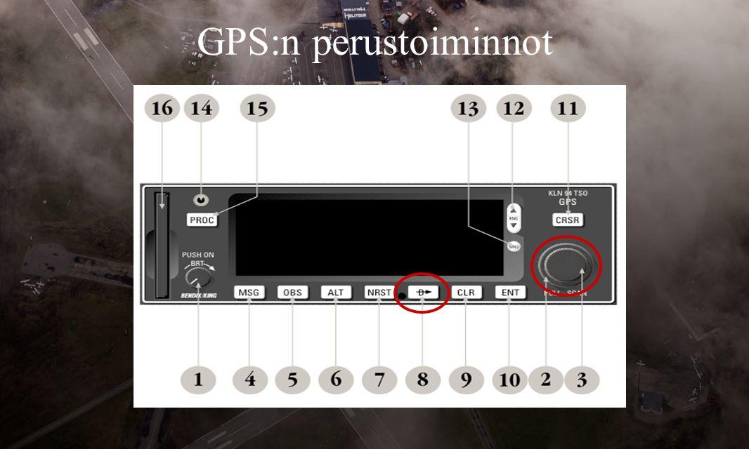 GPS:n perustoiminnot