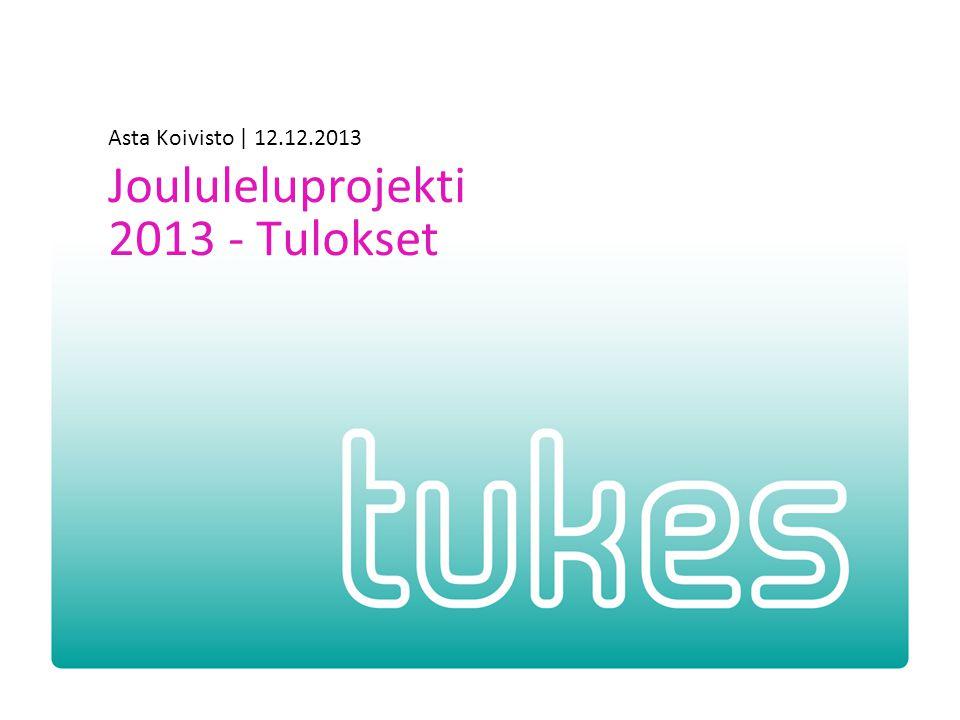 Asta Koivisto | 12.12.2013 Joululeluprojekti 2013 - Tulokset