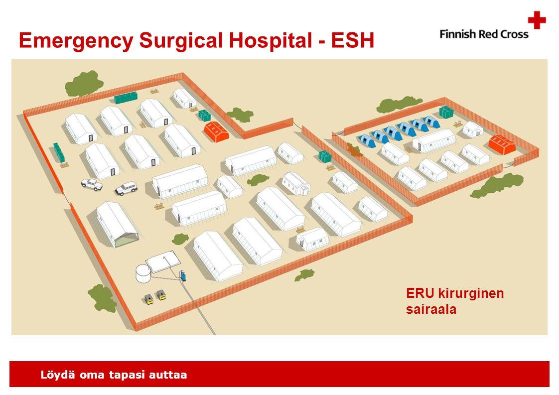 Löydä oma tapasi auttaa Emergency Surgical Hospital - ESH ERU kirurginen sairaala