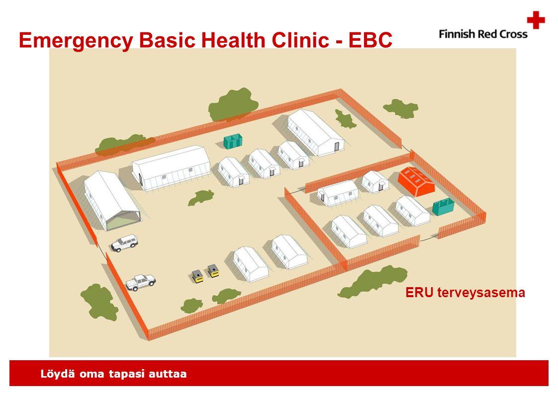 Löydä oma tapasi auttaa ERU terveysasema Emergency Basic Health Clinic - EBC
