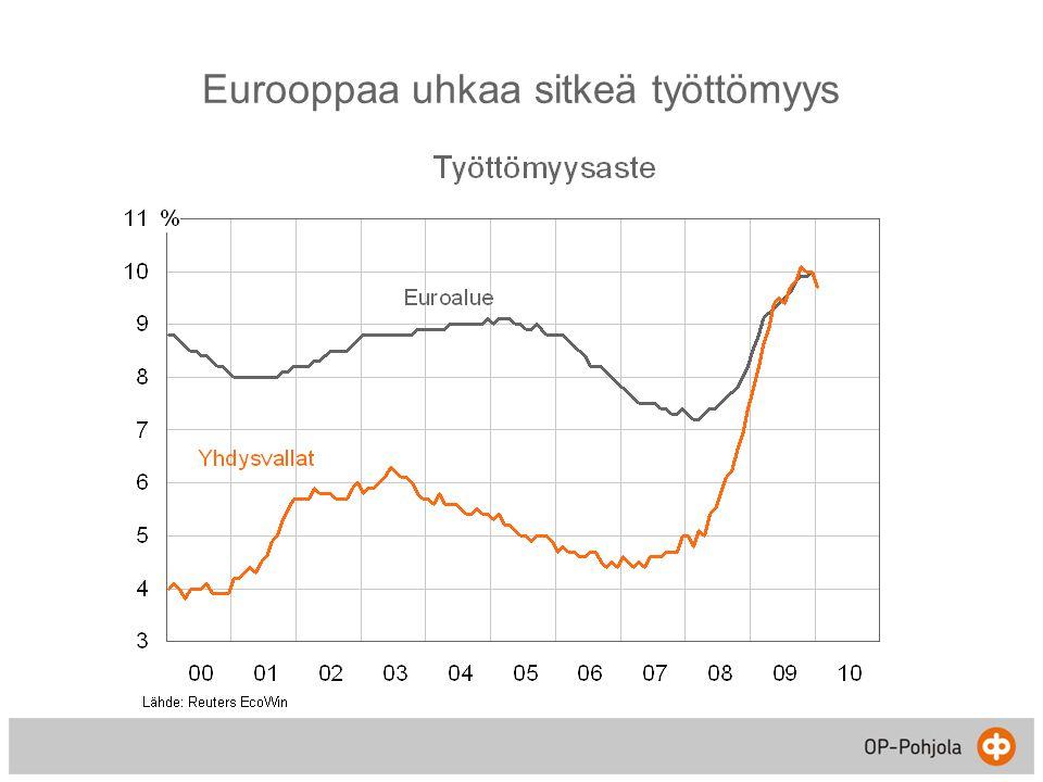 Eurooppaa uhkaa sitkeä työttömyys