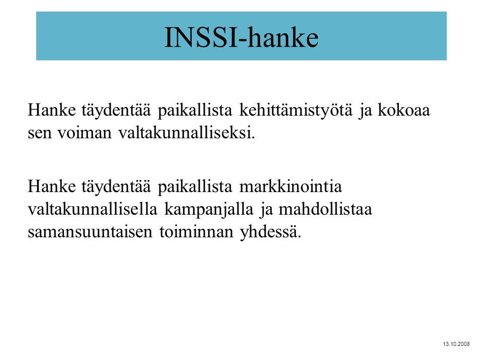 INSSI-hanke Hanke täydentää paikallista kehittämistyötä ja kokoaa sen voiman valtakunnalliseksi.