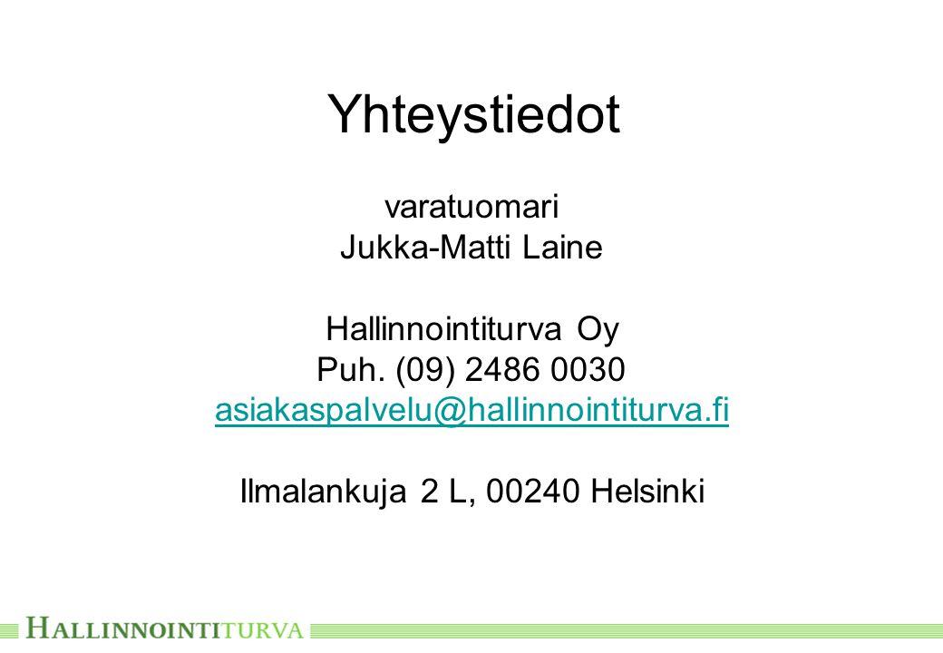 Yhteystiedot varatuomari Jukka-Matti Laine Hallinnointiturva Oy Puh.