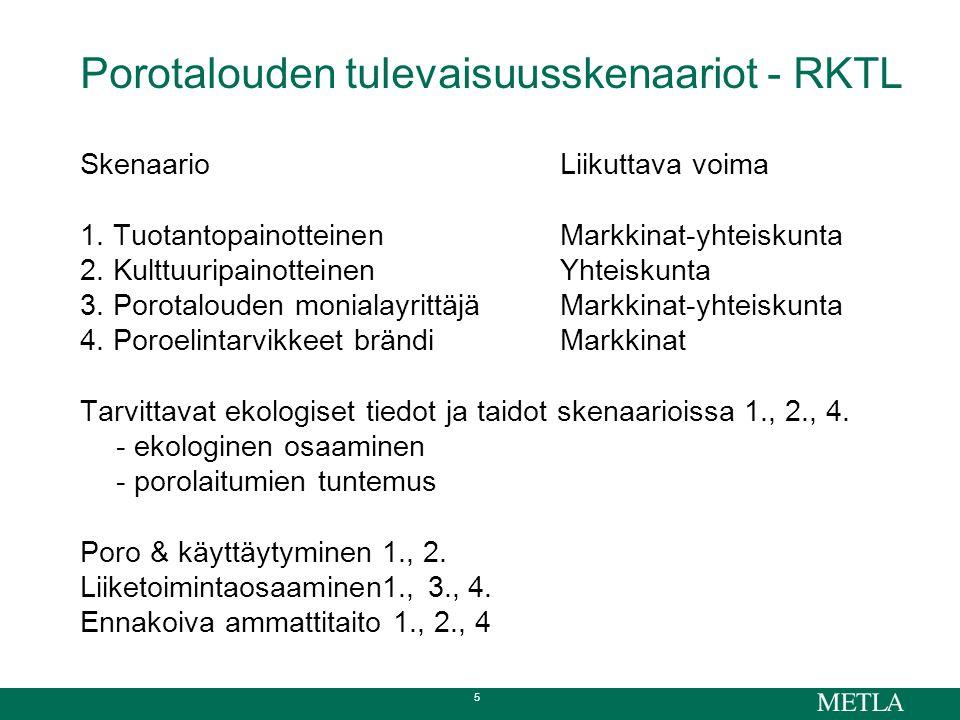 5 Porotalouden tulevaisuusskenaariot - RKTL SkenaarioLiikuttava voima 1.