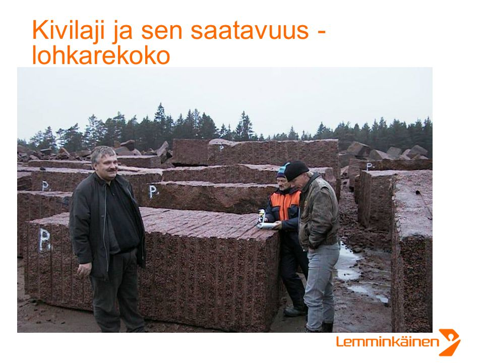Kivilaji ja sen saatavuus - lohkarekoko