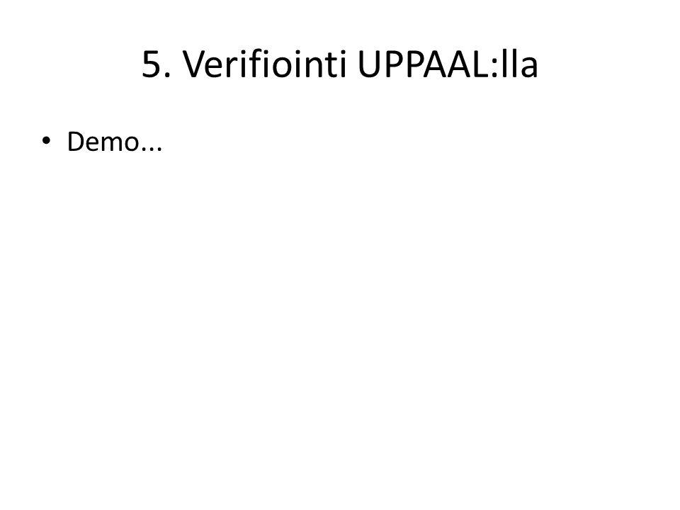 5. Verifiointi UPPAAL:lla • Demo...