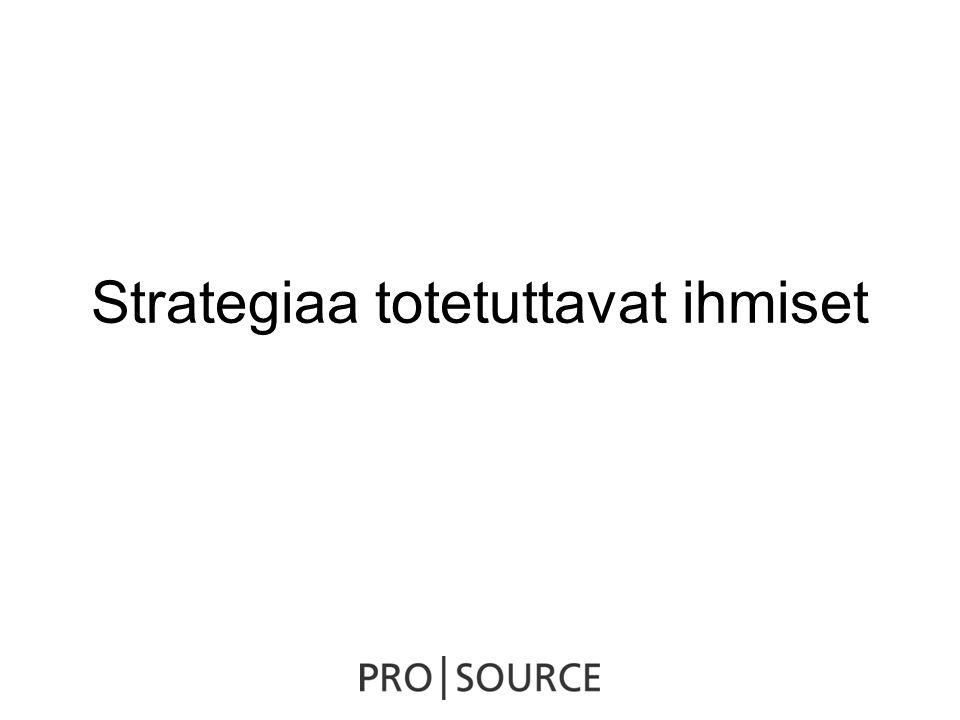 Strategiaa totetuttavat ihmiset