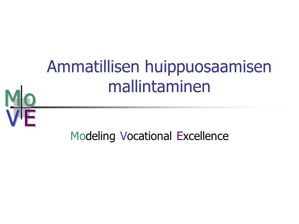 M M o o V V E E Ammatillisen huippuosaamisen mallintaminen Modeling Vocational Excellence