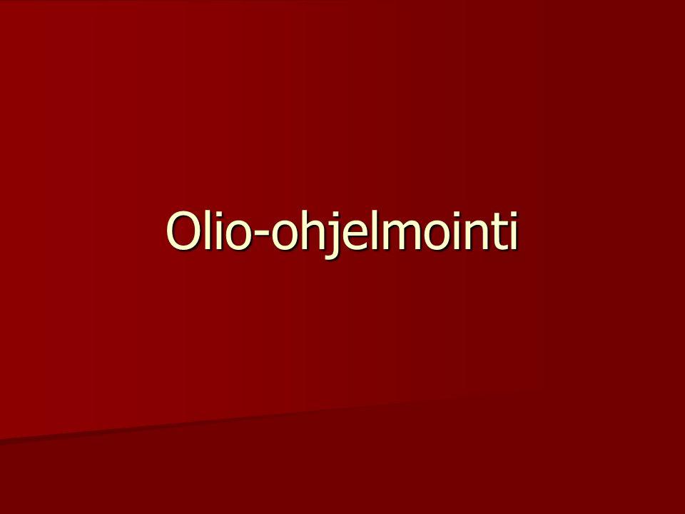 Olio-ohjelmointi
