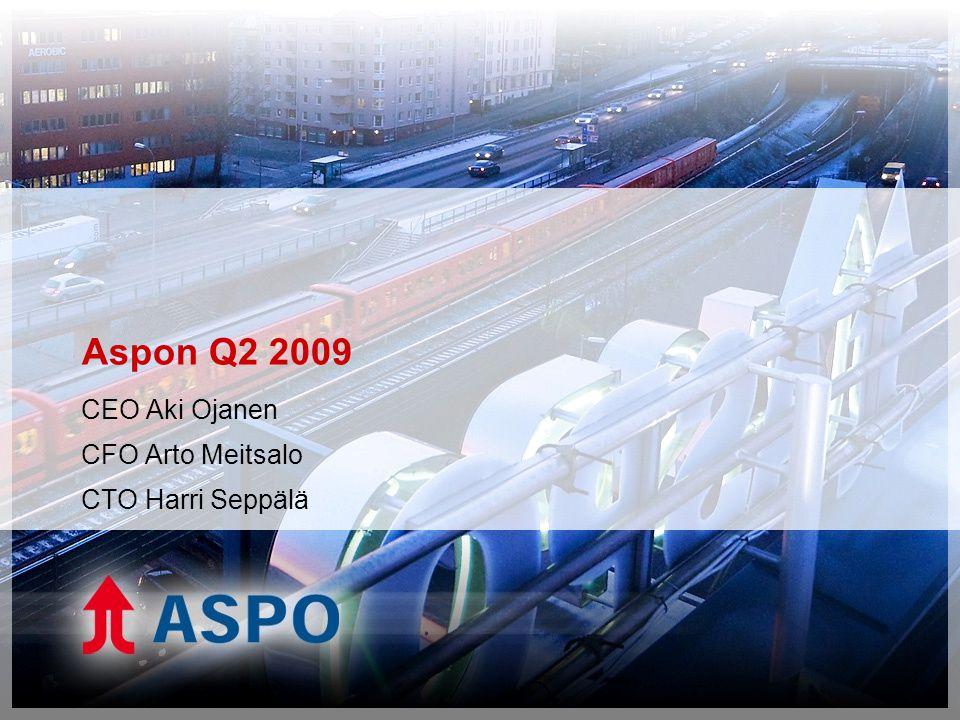 Aspon Q2 2009 CEO Aki Ojanen CFO Arto Meitsalo CTO Harri Seppälä