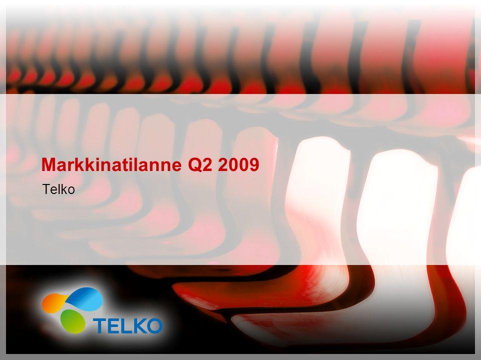 Markkinatilanne Q2 2009 Telko