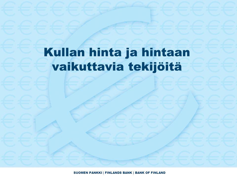 SUOMEN PANKKI | FINLANDS BANK | BANK OF FINLAND Kullan hinta ja hintaan vaikuttavia tekijöitä