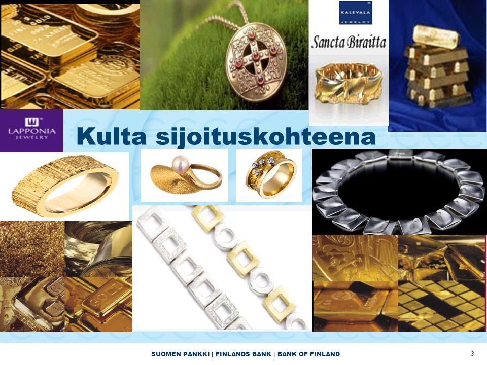 SUOMEN PANKKI | FINLANDS BANK | BANK OF FINLAND 3 Kulta sijoituskohteena