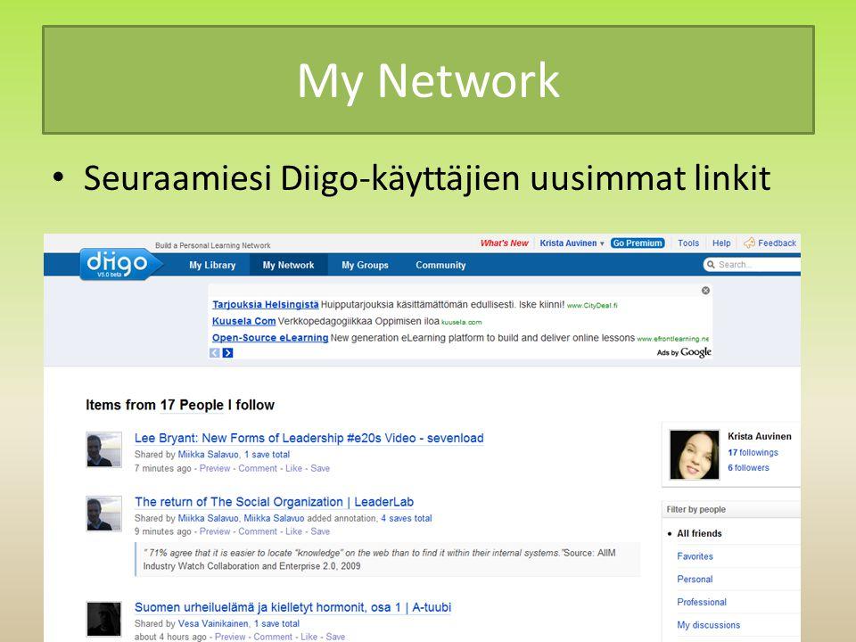 My Network Seuraamiesi Diigo-käyttäjien uusimmat linkit